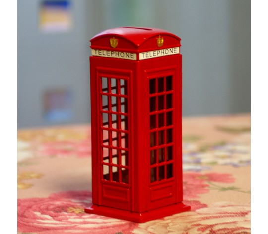Копилка Телефонная будка Лондон