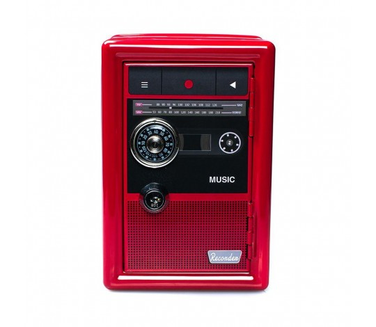 Копилка сейф Радио ретро с ключом