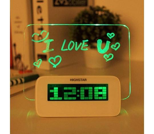 Часы Доска для записей с подсветкой