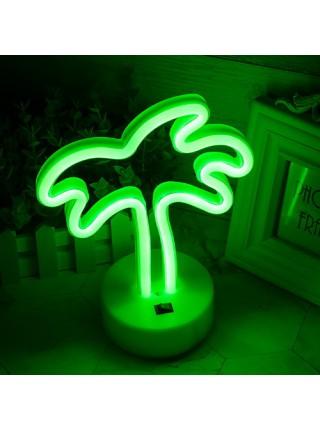 Неоновый светильник Пальма USB