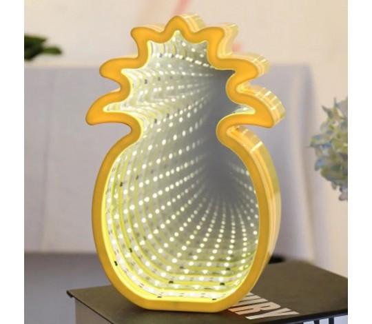 Светильник 3D Ананас