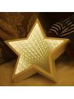 Светильник 3D Звезда