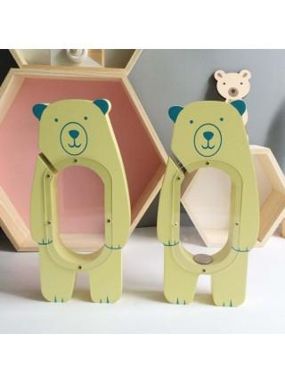 Копилка Медведь деревянная