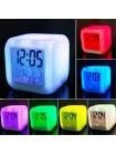 Будильник Куб с меняющейся подсветкой