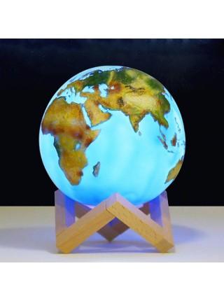 Светильник-ночник Планета Земля 3D
