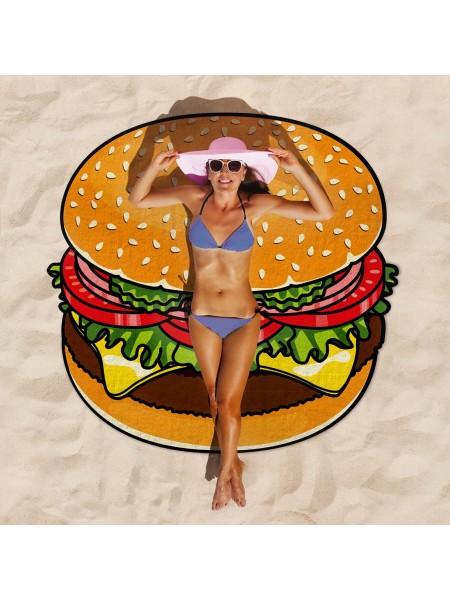 Покрывало пляжное Гамбургер