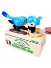 Копилка Попугай ест монеты, голубая