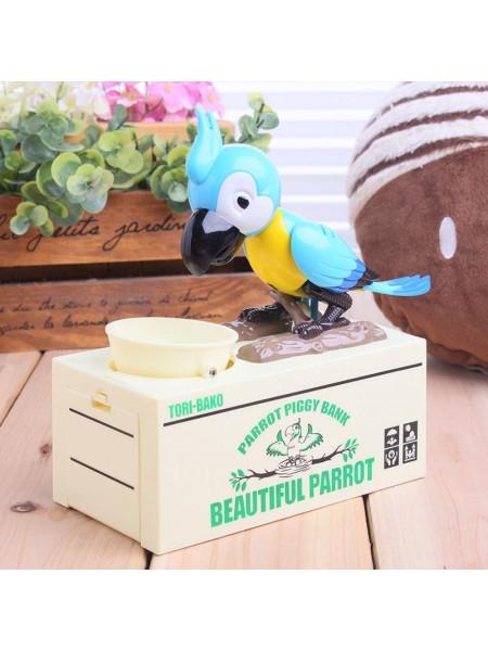 Копилка Попугай голубая