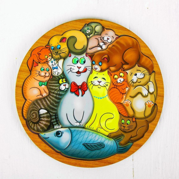 """Головоломка """"Коты и Рыба"""" от 490 руб"""