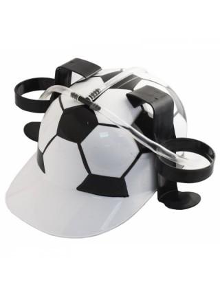 Каска пивная Футбол с подставкой под банки