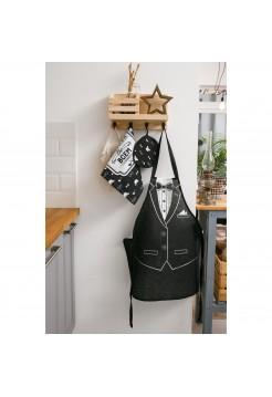 Фартук Джентльмен в наборе с прихваткой и полотенцем