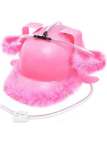 Каска розовая «Гламур» для пива
