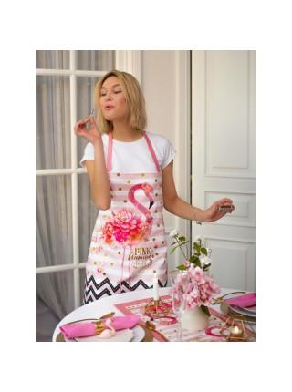Кухонный фартук фламинго