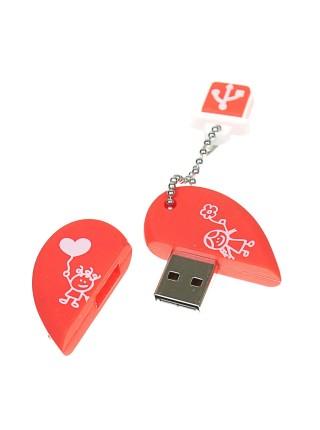 USB-флешка в форме сердца SmartBuy 16 Гб