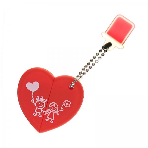 USB-флешка в форме сердца SmartBuy, 16 Гб от 980 руб