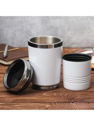 Термостакан 2 в 1 «Кофе для бодрости»