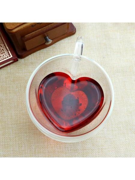 Кружка Сердце двойные стенки