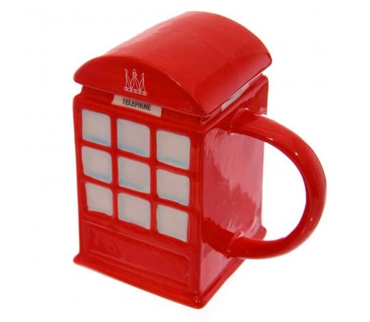 Кружка Английская телефонная будка с крышкой
