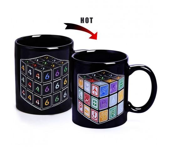 Кружка-хамелеон Кубик Рубика