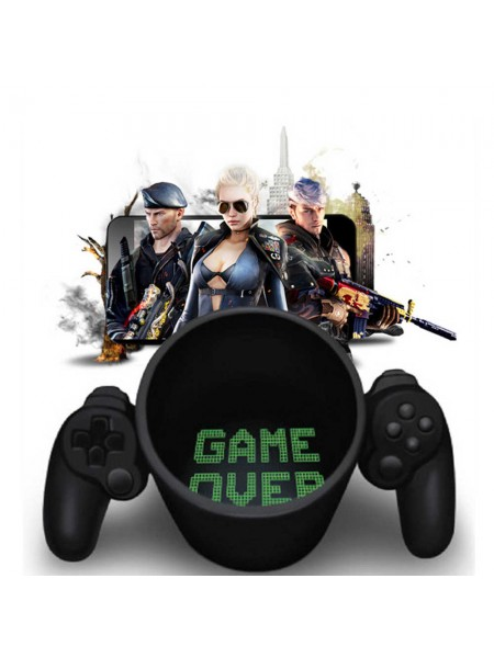 Кружка Game Over с геймпадом