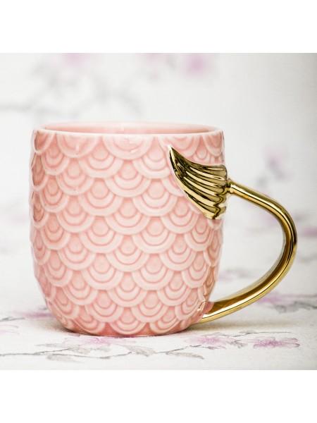 Кружка Русалка розовая