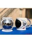 """Кружка """"Шлем космонавта 3D"""" черная"""