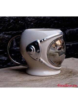 "Кружка ""Шлем космонавта 3D"" серебристая"