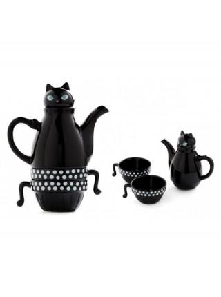 Заварник с чашками Кошка