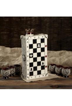 Штоф Шахматы с рюмками