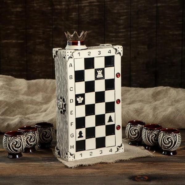 "Штоф ""Шахматы"" с рюмками от 1 100 руб"