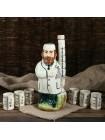 Керамический набор штоф Врач с рюмками