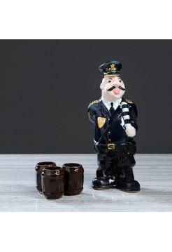 Штоф Гаишник с рюмками